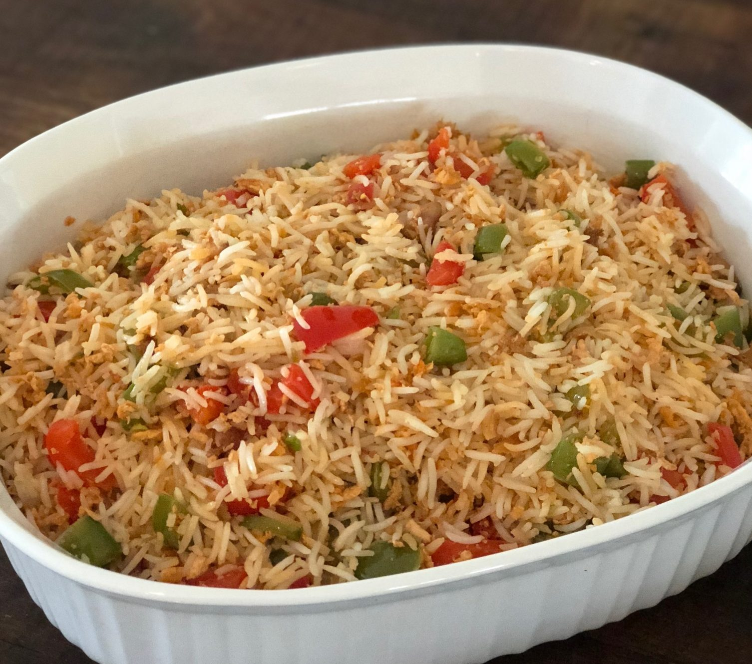 egg-fried vegetable rice